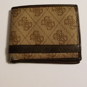 Guess leather two tone wallet
